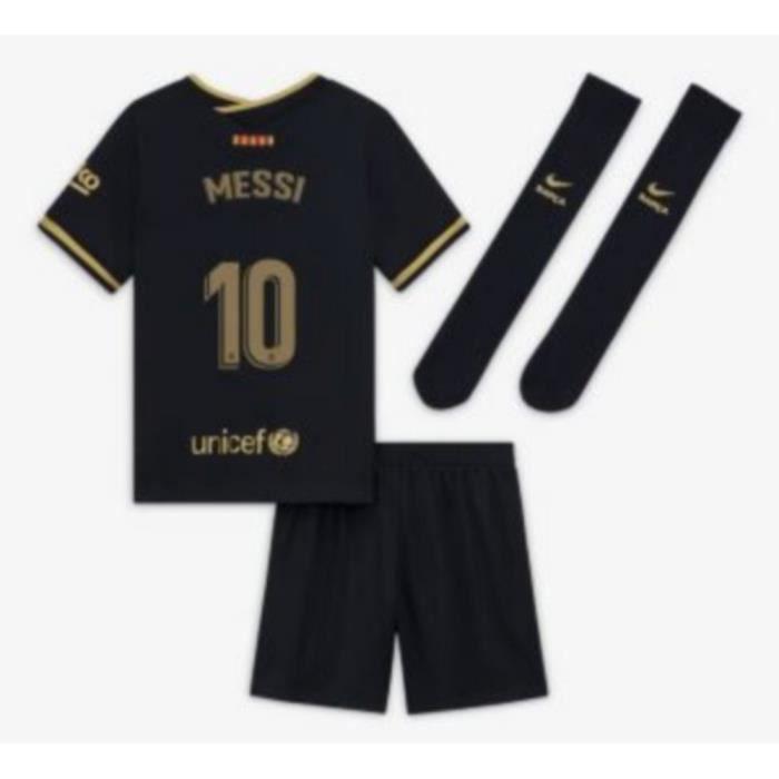 Mini-Kit Officiel Enfant Nike FC Barcelone Extérieur Saison 2020-2021 Flocage Officiel Numéro 10 Messi