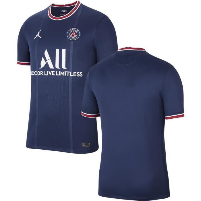 Survêtement de Foot Homme 2021 2022 Nouveau Maillot de Football Pas Cher Manche Courte Bleu