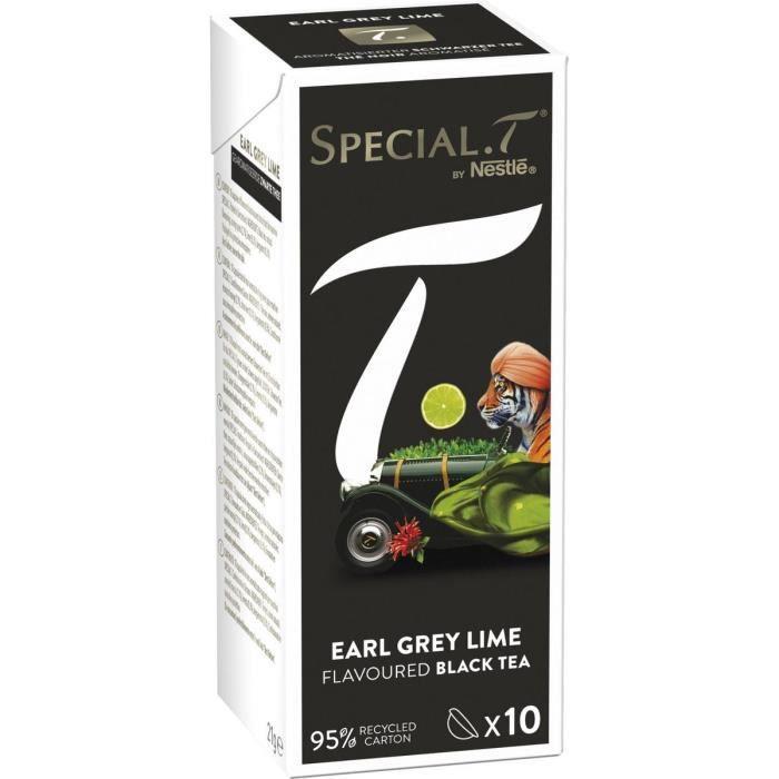 SPECIAL T Capsules de thé noir earl grey lime citron vert 10 capsules 21g