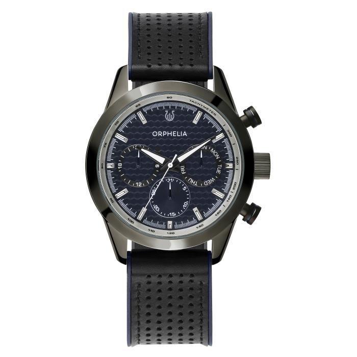 ORPHELIA - Montre Hommes - Quartz - Multi-Cadrans - Bracelet en Silicone - Bleu - OR71903