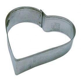 Emporte-pièce en inox - 8 cm - cœur