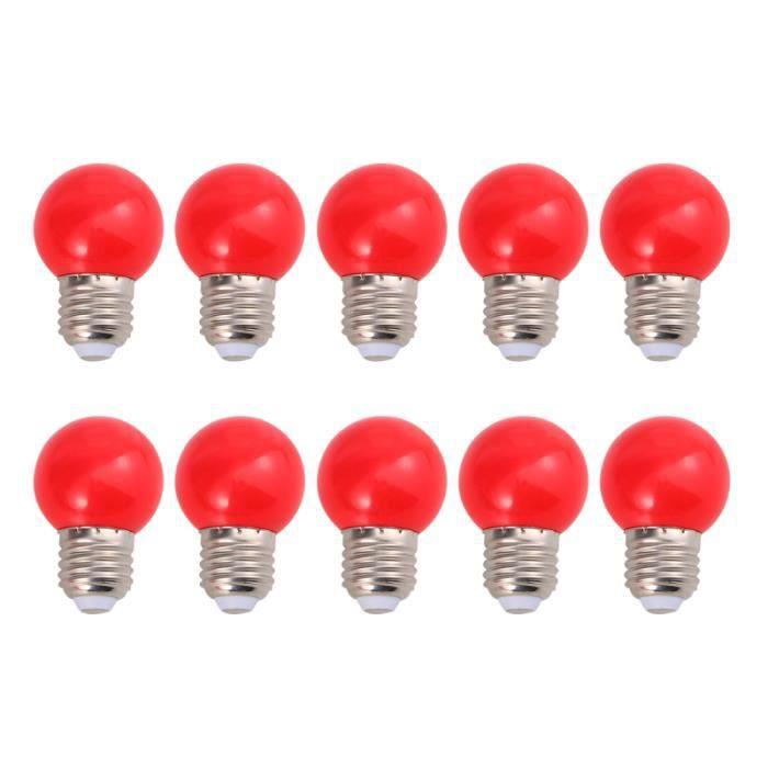 10 pièces ampoule étanche léger décoratif coloré LED pour Festival extérieur maison PLAFONNIER