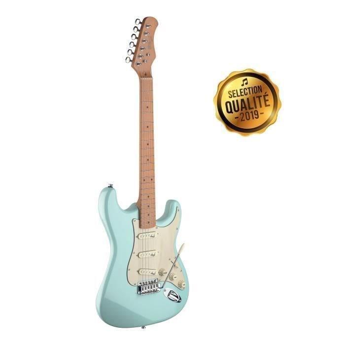 STAGG Guitare Electrique ST SES50M-SNB Vintage Bleu
