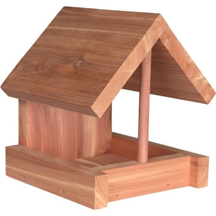 TRIXIE Natura mangeoire en bois de cèdre - 16x15x13 cm - Naturel - Pour oiseaux