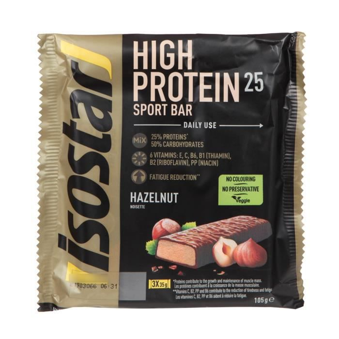ISOSTAR Barres de High Protein 25% Nuts - 3x 35 g