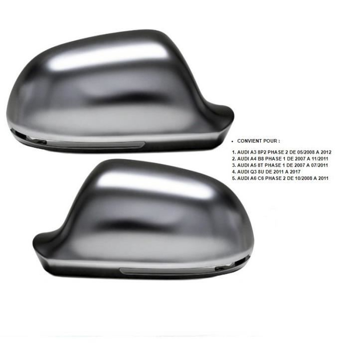 10-13 NS partie inf/érieure Audi Coque de r/étroviseur ext/érieur gauche pour Audi