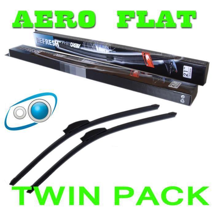 """Paire 20/""""//18/"""" Avant Aero Flat Essuie-Glace Lames Pour Nissan"""