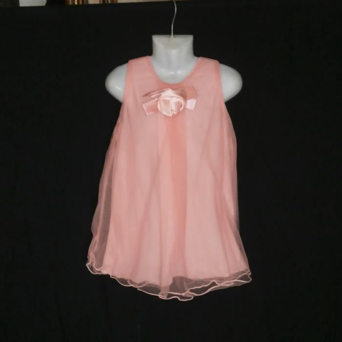 ROBE CEREMONIE SAUMON 2 ANS