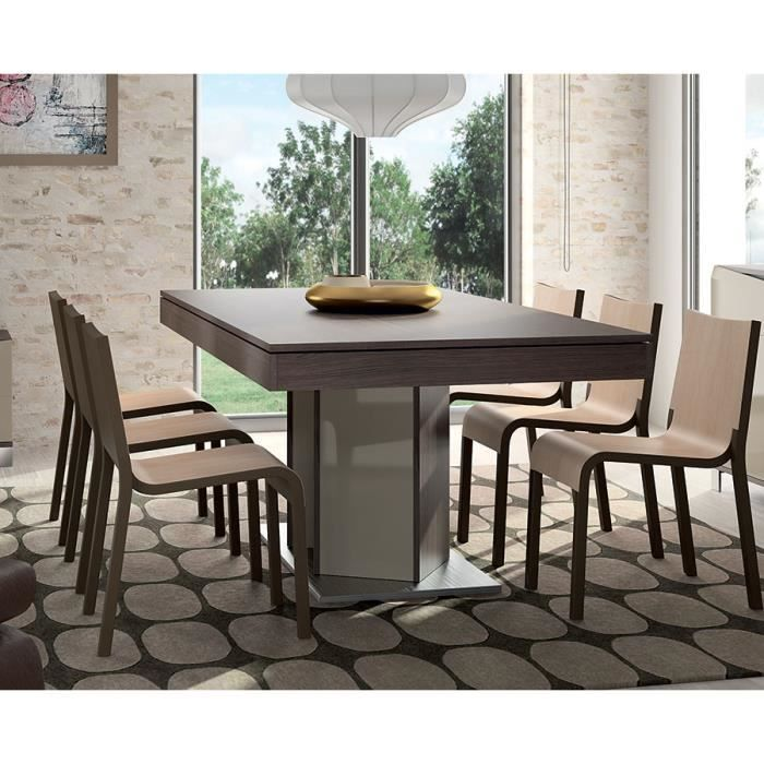 table de salle manger moderne plazza l 160 cm achat vente table a manger complet table de. Black Bedroom Furniture Sets. Home Design Ideas