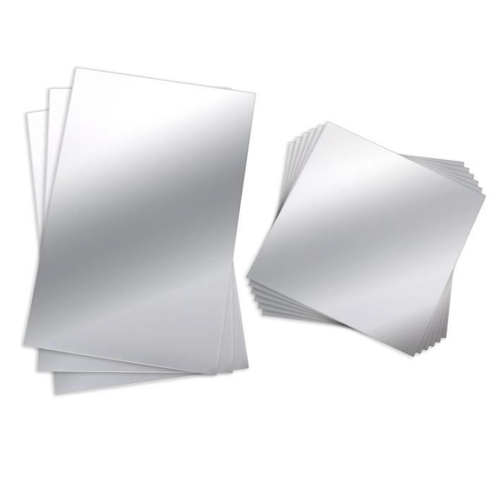 Adapter Universe 16/pcs Feuille Miroir Autocollant Autocollant Papier Peint Miroir Mural Sticker d/écoratif r/éfl/échissant carrelage 15/x 15/cm pour Salle de Bain