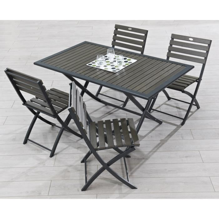 table pliante aluminium composite 140x80cm achat vente table de jardin table pliante. Black Bedroom Furniture Sets. Home Design Ideas