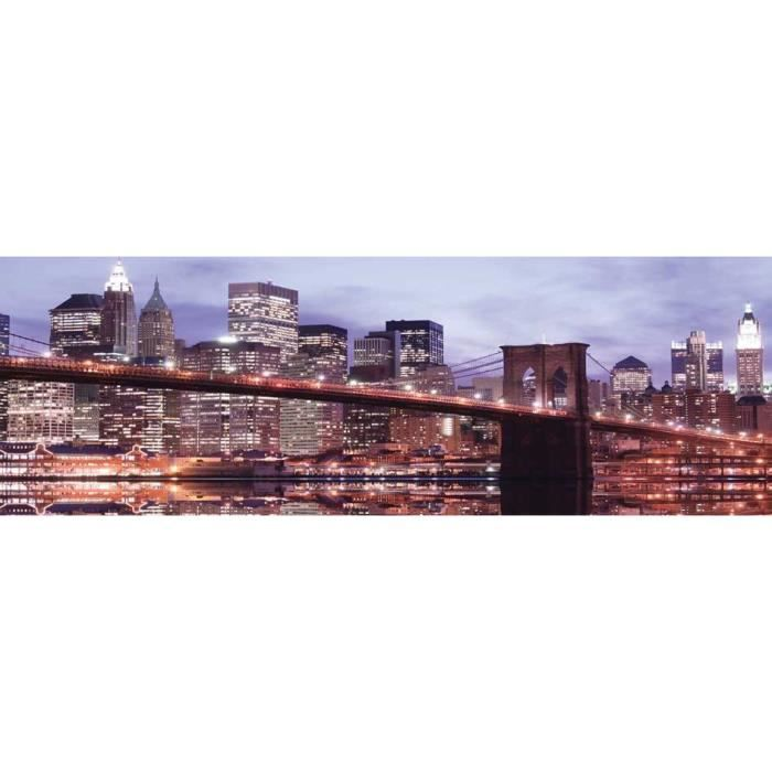 pont brooklyn tableau d co sur glass art 40x120cm cdt. Black Bedroom Furniture Sets. Home Design Ideas