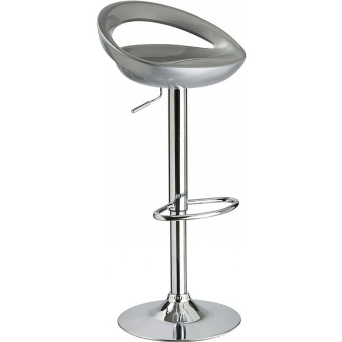 tabouret de bar gris metal laura lot de 2 id 39 achat vente tabouret de bar cdiscount. Black Bedroom Furniture Sets. Home Design Ideas