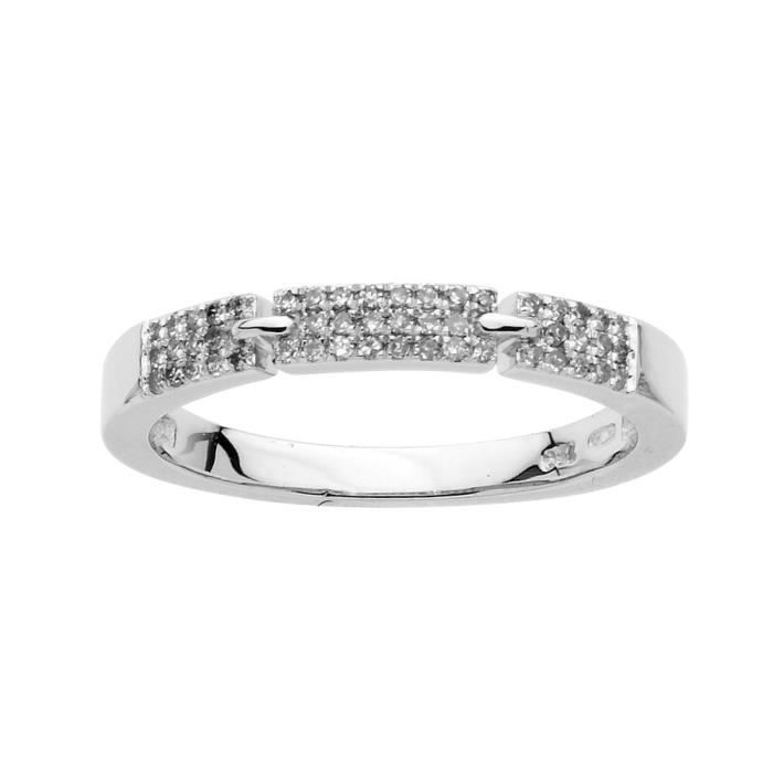 DIAMANTLY Bague diamants 0,25ct or gris 750/1000