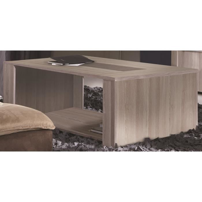 table basse coloris ch ne shannon beton clair achat vente table basse table basse 120. Black Bedroom Furniture Sets. Home Design Ideas