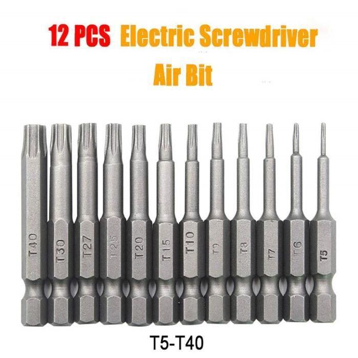 5 pcs 1//4 pouces S2 Hex Magnetic U en forme de embouts de Tournevis Outils 50 mm longueur U4-U8