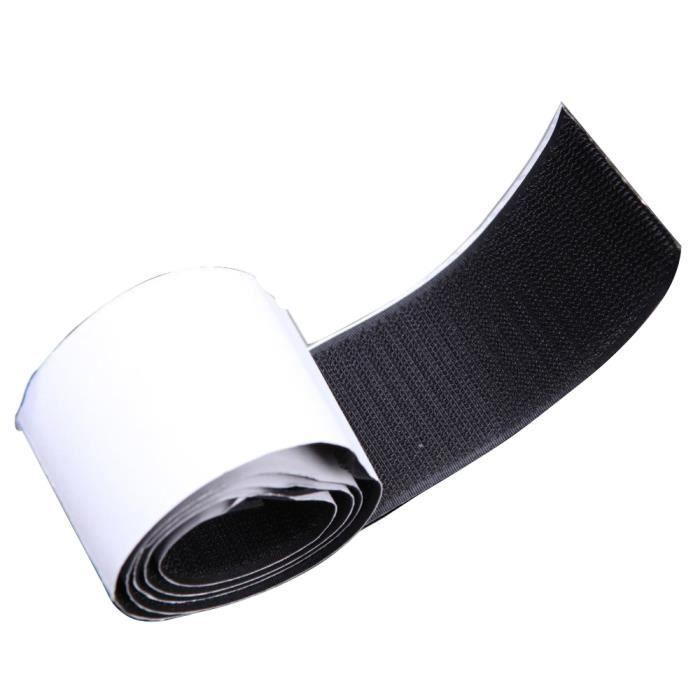 Crochet à coudre noir 1 pouce x 1 yard et ruban à boucle pour accessoires