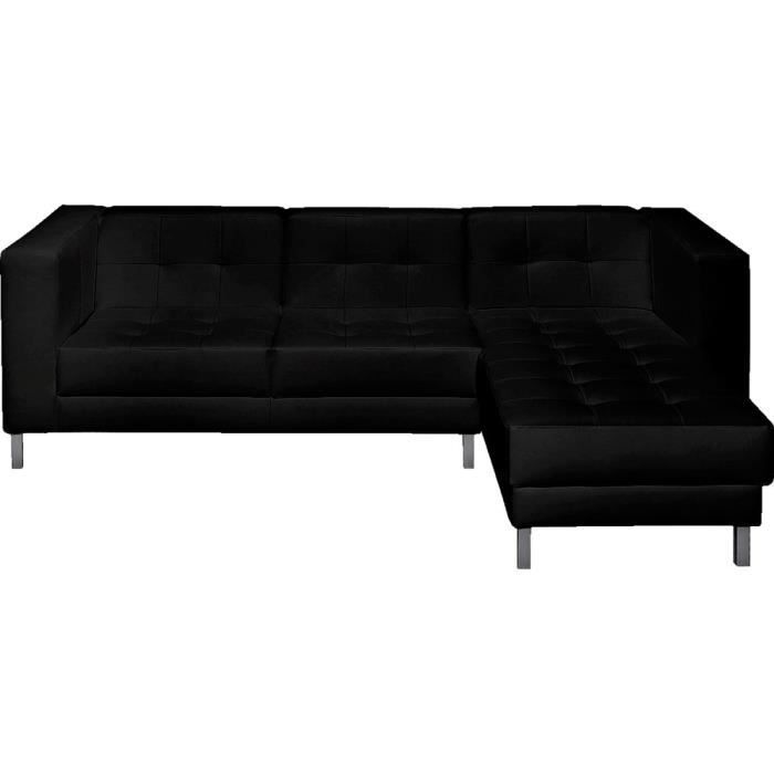 canap d 39 angle droit switsofa manfield noir achat vente canap sofa divan cdiscount. Black Bedroom Furniture Sets. Home Design Ideas