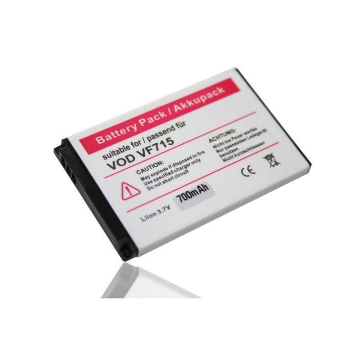 Batterie téléphone vhbw Li-Ion batterie 700mAh pour téléphone portabl