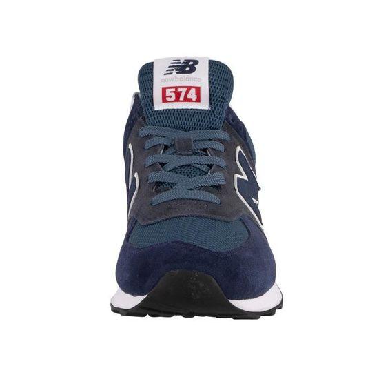 New Balance Pour des hommes 574 Baskets en daim, Bleu Bleu ...