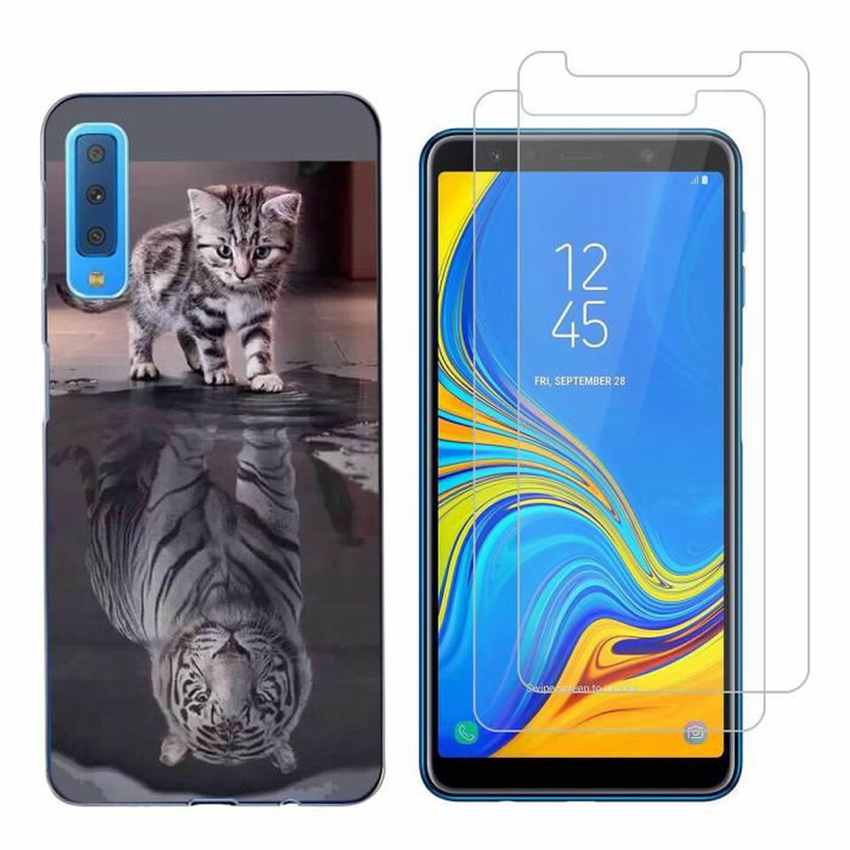 coque samsung galaxy a10 chat tigre