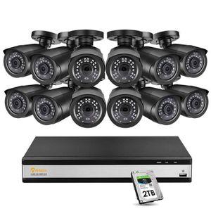 Noir, H.264,H.264+,H.265,H.265+, NTSC,PAL, 1.0 canaux, 12 V, 16 canaux Enregistreurs vid/éo num/érique Hikvision Digital Technology DS-7216HUHI-K2 Enregistreur vid/éo num/érique Noir