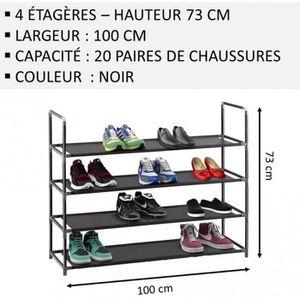 MEUBLE ÉTAGÈRE Meuble Chaussures,No58, Modulable 2 14 Étagères (1