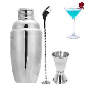 SHAKER - SET COCKTAIL  3Pcs - Set Cocktail shaker en acier inoxydable Bar
