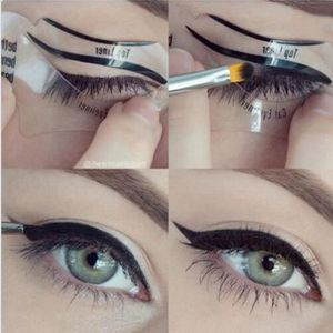 EYE-LINER - CRAYON 2PCS Les yeux de chat  carte - guide modèle maquil