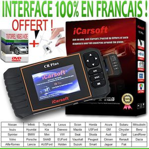 OUTIL DE DIAGNOSTIC Valise Diagnostic MULTIMARQUES iCARSOFT® CR PLUS s