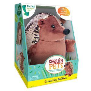 PELUCHE Creativity For Kids Animaux sequin peluche - Happy