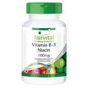 STRESS - SOMMEIL Vitamine B-3 avec Niacine - 250 comprimés