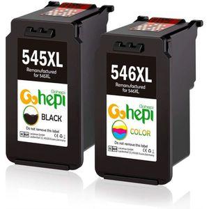 CARTOUCHE IMPRIMANTE COMPATIBLE CARTOUCHES PG-545XL CL-546XL Noir et co