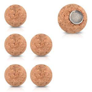 AIMANTS - MAGNETS Navaris 6x aimant en liège - Lot de magnets ronds