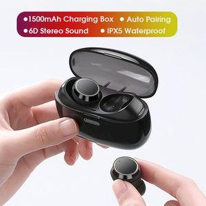 CASQUE AVEC MICROPHONE TEMPSA 1500mah CVC Écouteurs Bluetooth Stéréo Spor