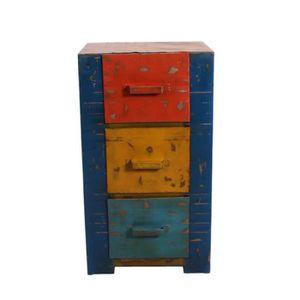 COMMODE DE CHAMBRE Commode 3 tiroirs - TANK - L 50 x l 40 x H 90 cm