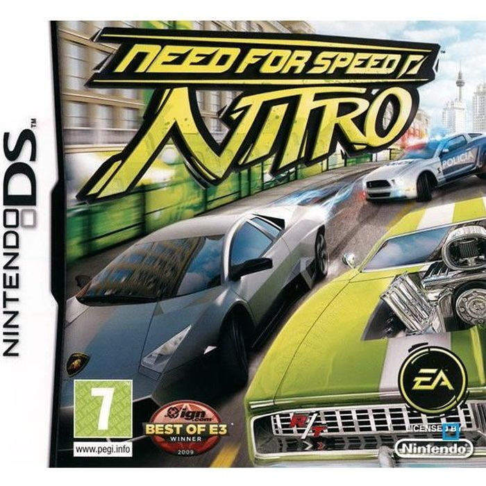 need for speed nitro jeu console nintendo ds achat vente jeu ds dsi need for speed nitro. Black Bedroom Furniture Sets. Home Design Ideas