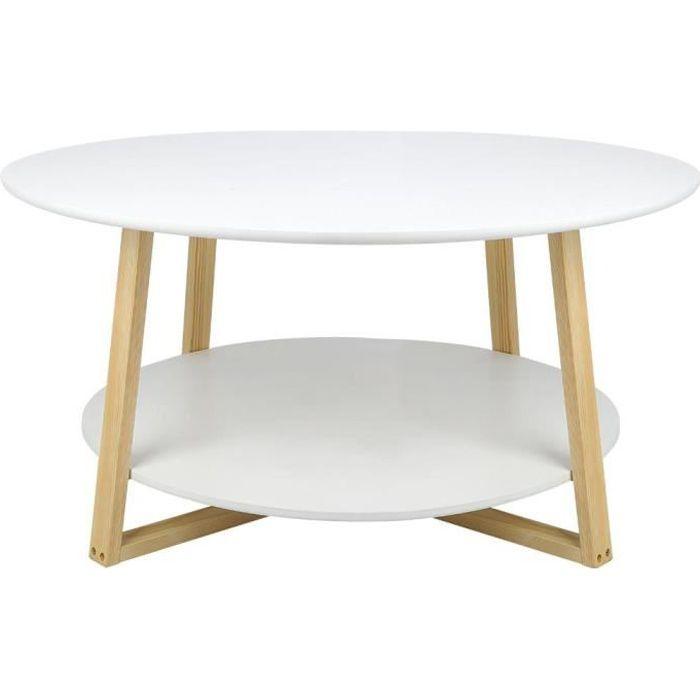 Petite table basse ronde (diamètre 90 cm) -J-GUA