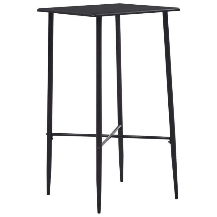 -9654PRIME Table de Bar Haute de 2 à 4 personnes Table de Comptoir-Table de Bar Extérieur-Mange-debout Noir 60x60x111 cm MDF