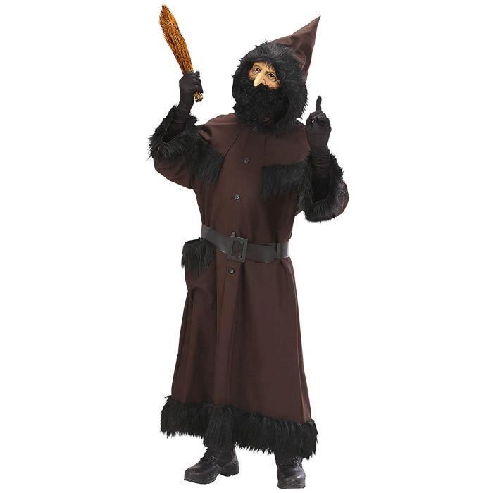 Widmann 73931 Adultes Costume Serviteur Robert, Casaque avec Capuche, Ceinture