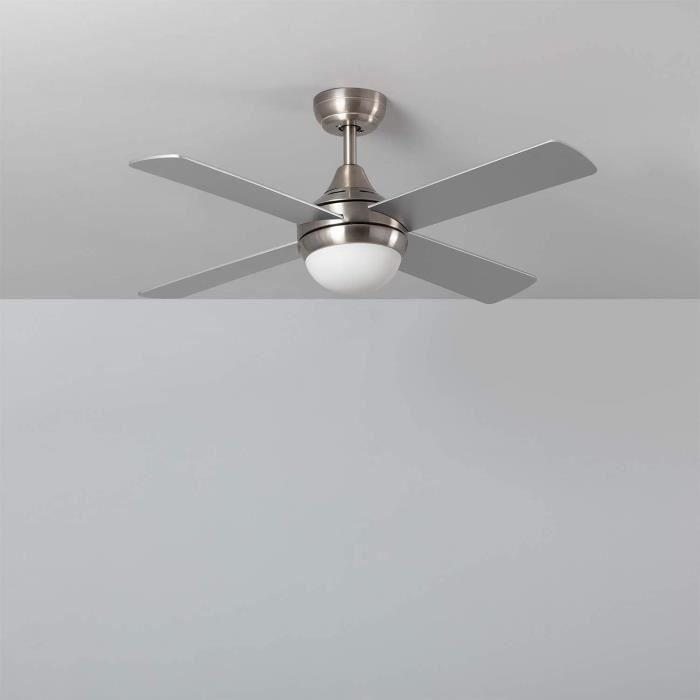 Ventilateur de Plafond Navy Nickel 110cm Moteur AC Nickel A104