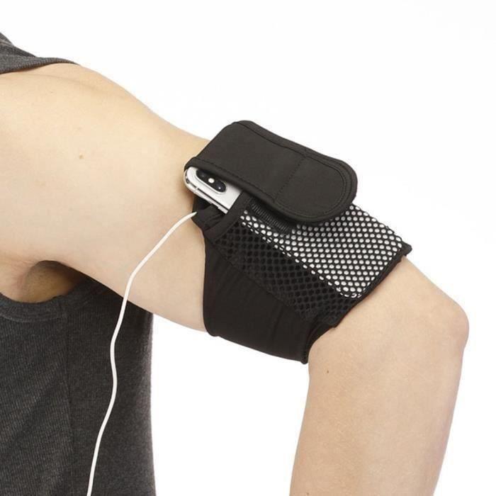 MINI pochette de téléphone de bras jogging sac porte-smartphone de bras Antichoc Anti-Collision Durable Arm Bag - noir taille S