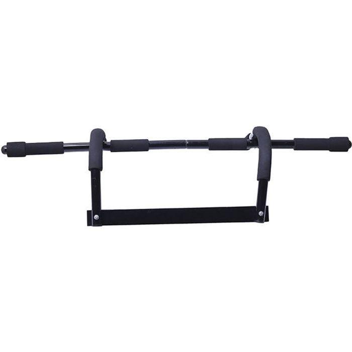 Barre de Traction Murale Dips Fitness Sport Musculation Pull Up 120kg(noir)