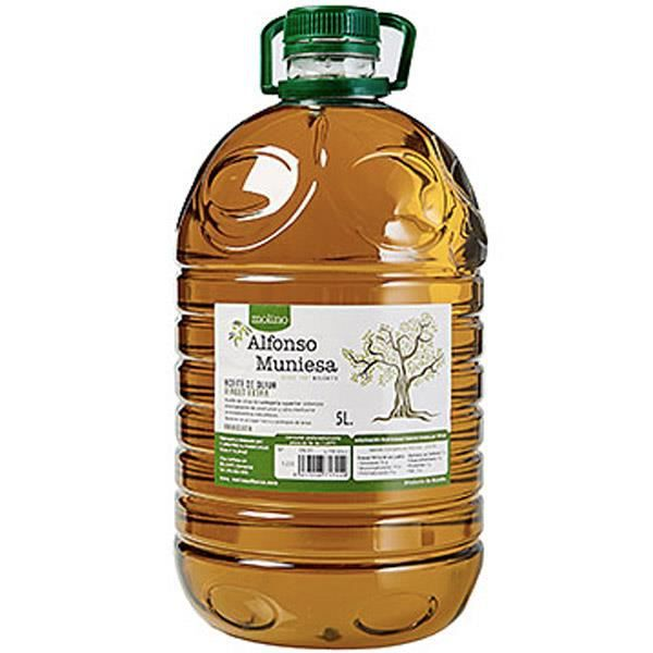 Huile d'olive extra vierge Arbequina (Pet 5 litres) - Molino Alfonso