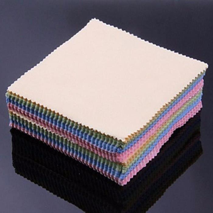 10x Microfibre Tissu Chiffon Nettoyage Lunettes Smartphone Objectif Photo Tablette