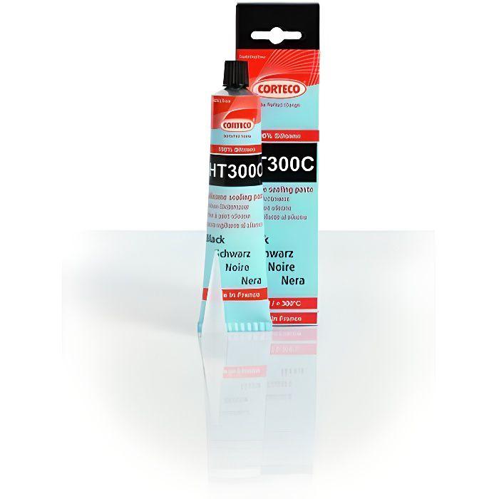 Pâte à joint noire élastomère 100% silicone 300°C Corteco HT300C côté Passager