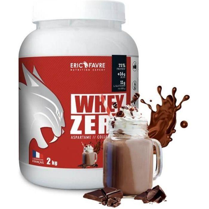 Eric Favre - Whey protéine concentrée Zero - Proteines - Chocolat - 750g