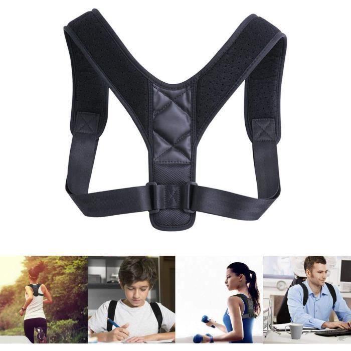 GOBROCorrecteur de Posture et Redresse Dos,Ceinture Dorsale réglable pour Maintien épaules Droit,Soutien la Colonne Vertébrale Dorsa