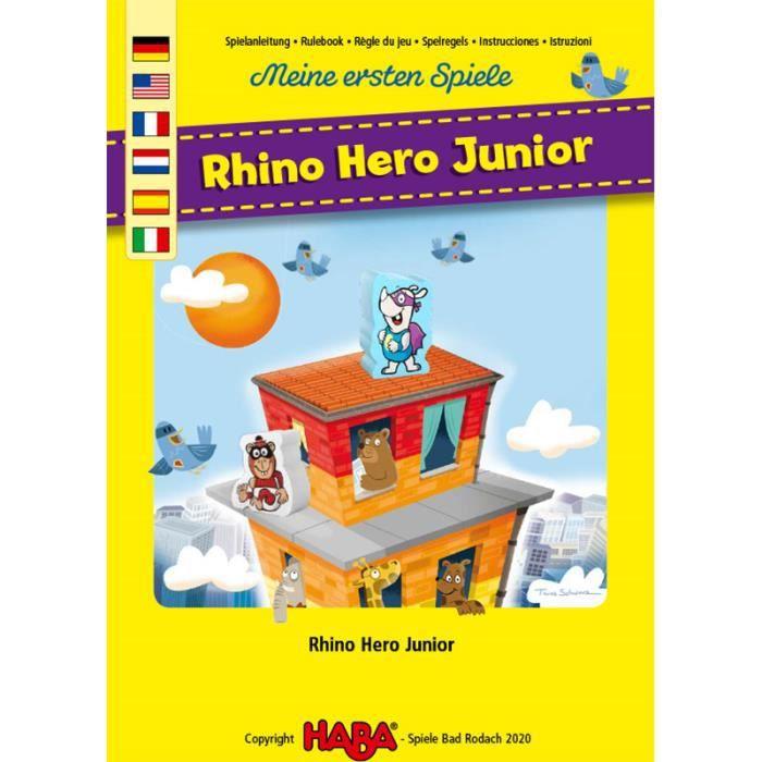 Mes premiers jeux Haba - Rhino Hero Junior - Jeux de société - Jeux pour enfants - Jeux d'ambiance