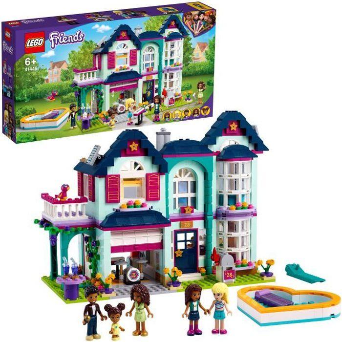 LEGO® Friends 41449 La maison familiale d'Andréa Maison de poupée de 2 étages incluant piscine, studio de musique et figurines